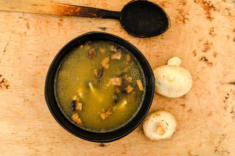Download Mushroom soup stock photo. Image of edible, dish, horizontal - 105063200