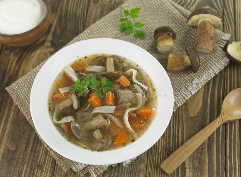 Download Mushroom soup stock image. Image of fresh, food, table - 33796345