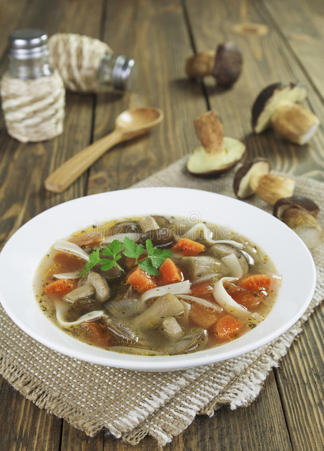 Download Mushroom soup stock photo. Image of forest, table, organic - 33796484