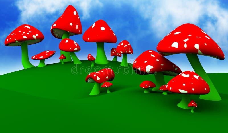 Download Mushrooms stock illustration. Illustration of green, fungus - 11686328