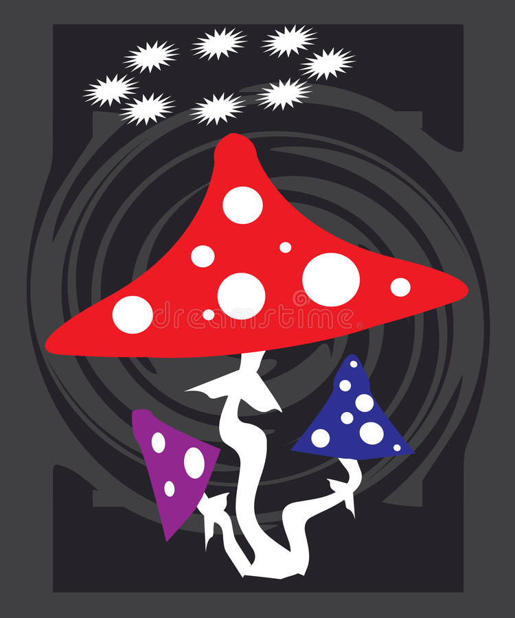 Mushrooms royalty free illustration
