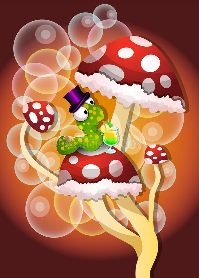 Mushrooms, illustration stock illustration
