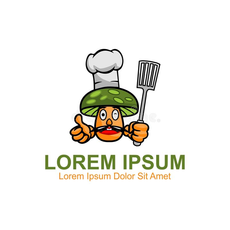 Mushrooms Logo. Template, Can be used for personal and Corporate Business vector illustration