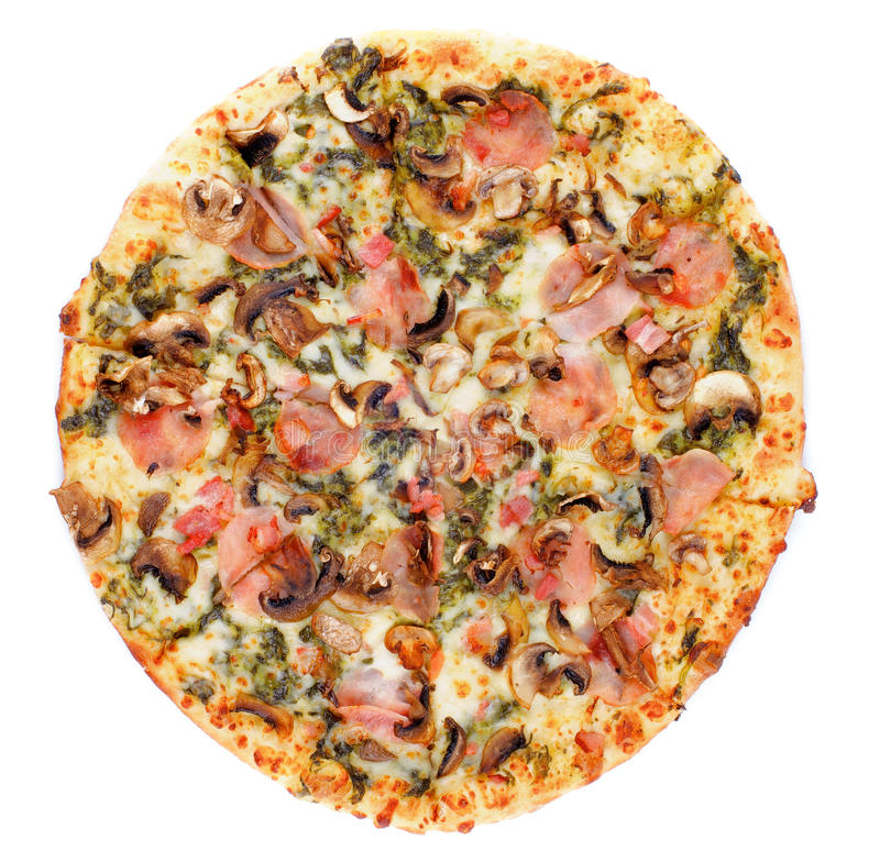 Download Mushrooms Pizza stock image. Image of sauce, meal, baked - 39326457