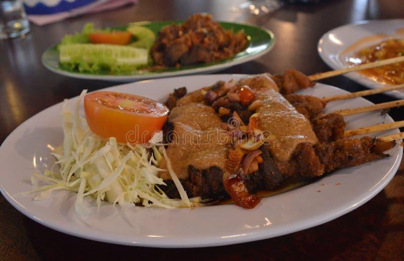 Mushrooms Satay royalty free stock images