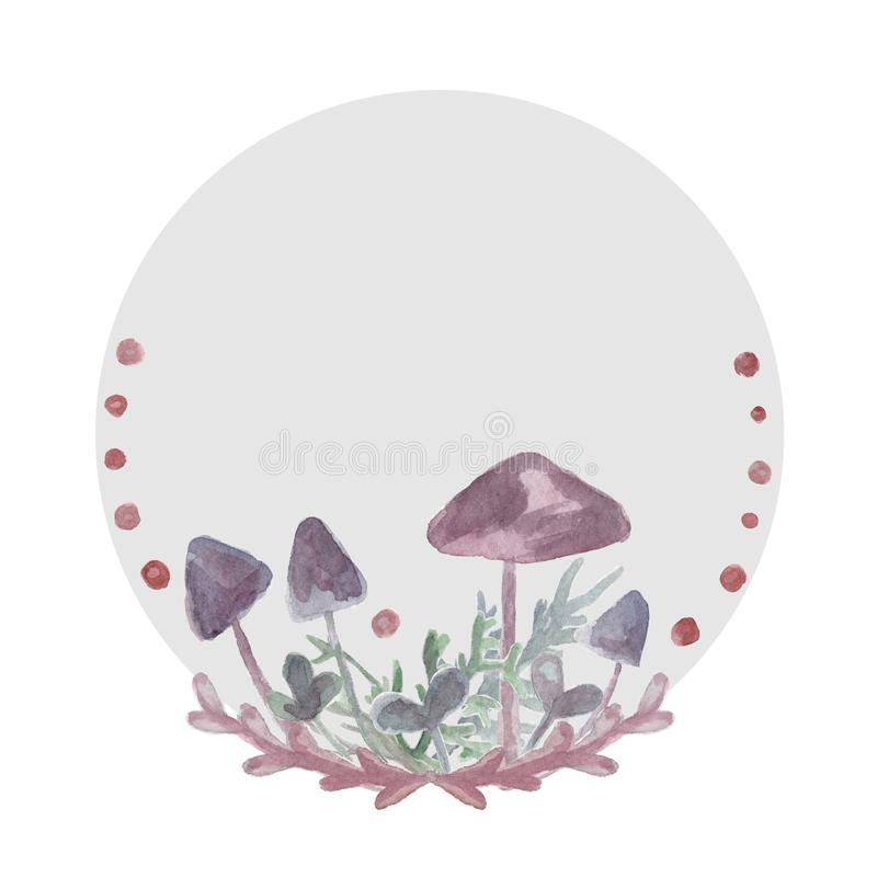 Mushrooms for witches potions. Toadstool for poster and halloween card vector illustration