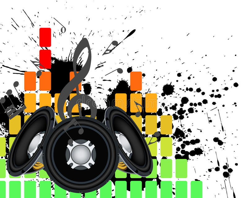 Musial grunge background. Musical grunge background. Vector illustration vector illustration