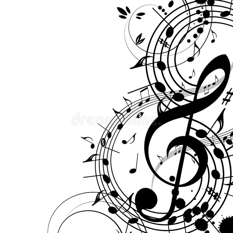 Music. Background Music - a vector illustration for your design project. Nice template for a blog/ Very easy to edit file