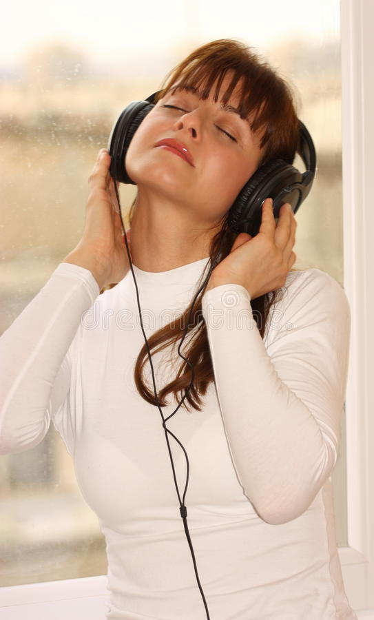 Download Music stock image. Image of object, listening, girl, black - 23198799