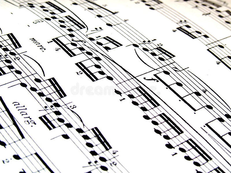 Download Music stock image. Image of notes, composition, quavers - 2324133