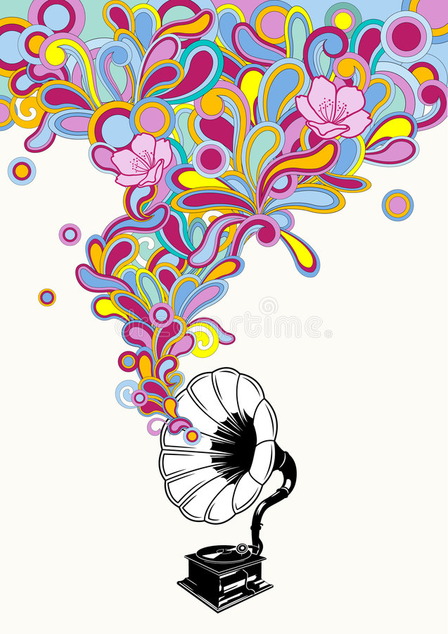 Download Music stock vector. Image of cherryblossom, circles, colorful - 6315866