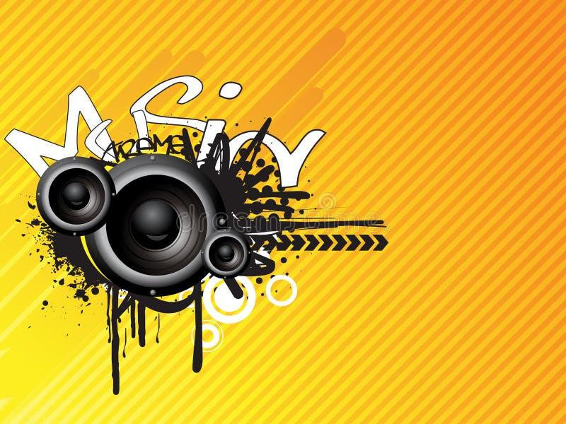 Download Music absrtact design stock vector. Image of dance, black - 9016626