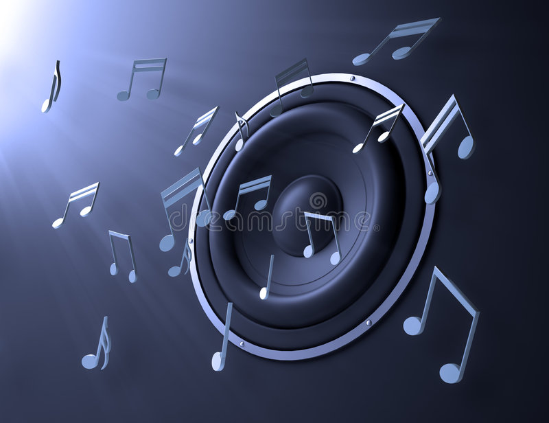 Music abstract royalty free illustration