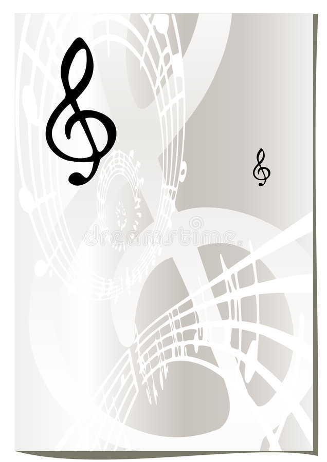 Music abstract background royalty free illustration