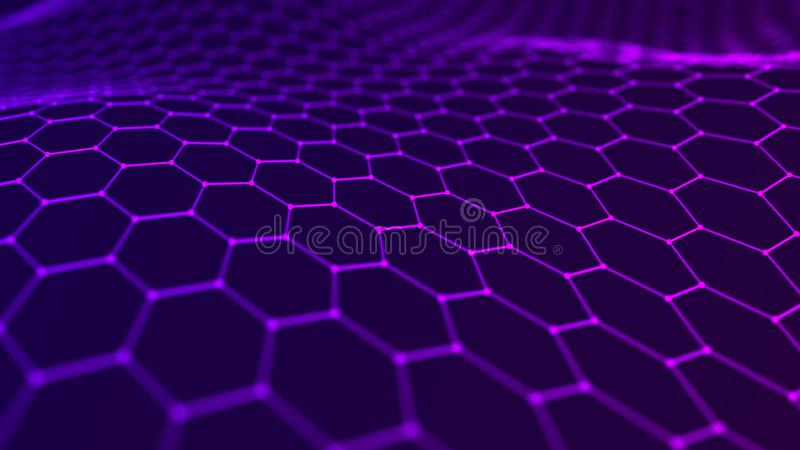 Music abstract background. Network connection. 3D rendering stock illustration