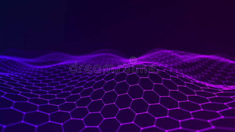 Music abstract background. Network connection. 3D rendering vector illustration