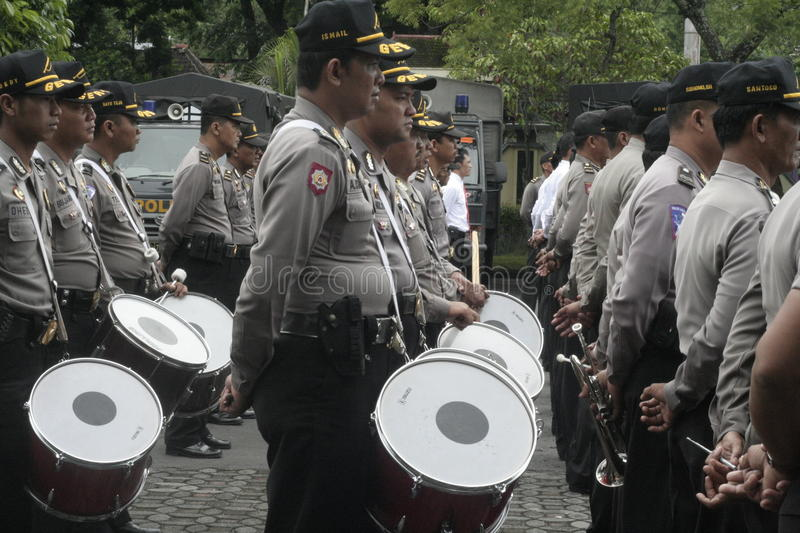 MUSIC ALERT SECURITY POLICE UNIT ELECTION stock photo