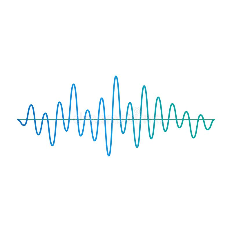 Free Music Amplitude Wave Or Frequency Element Cartoon Vector Illustration Isolated. Stock Image - 158502381