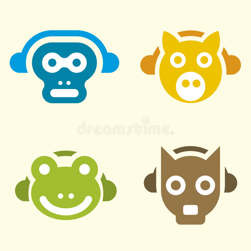 Music Animals (vector) Royalty Free Stock Photography