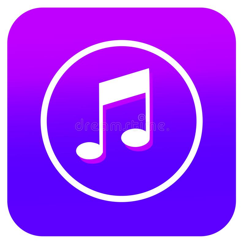 Music App Icon With Gradient Background Editorial Photo Illustration Of Music Icon 148637581