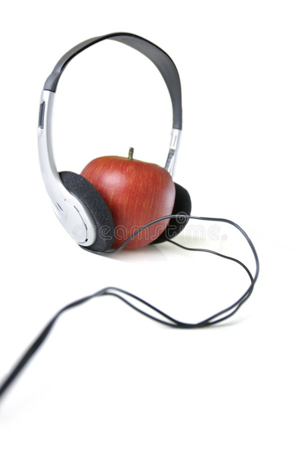 Music and apple royalty free stock photo