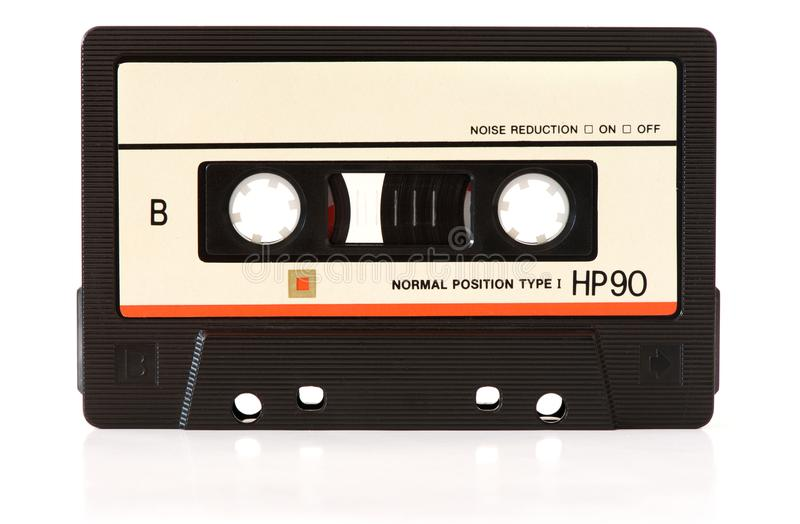 Music audio tape. Isolated on white background royalty free stock image
