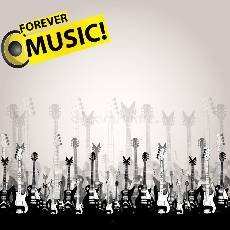 Music audio template royalty free illustration