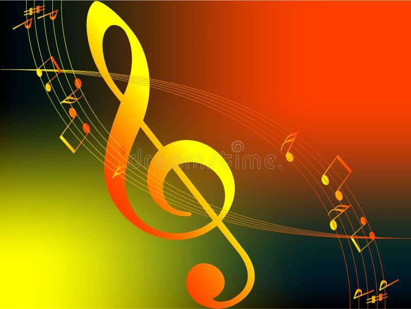 Music of Autumn royalty free illustration
