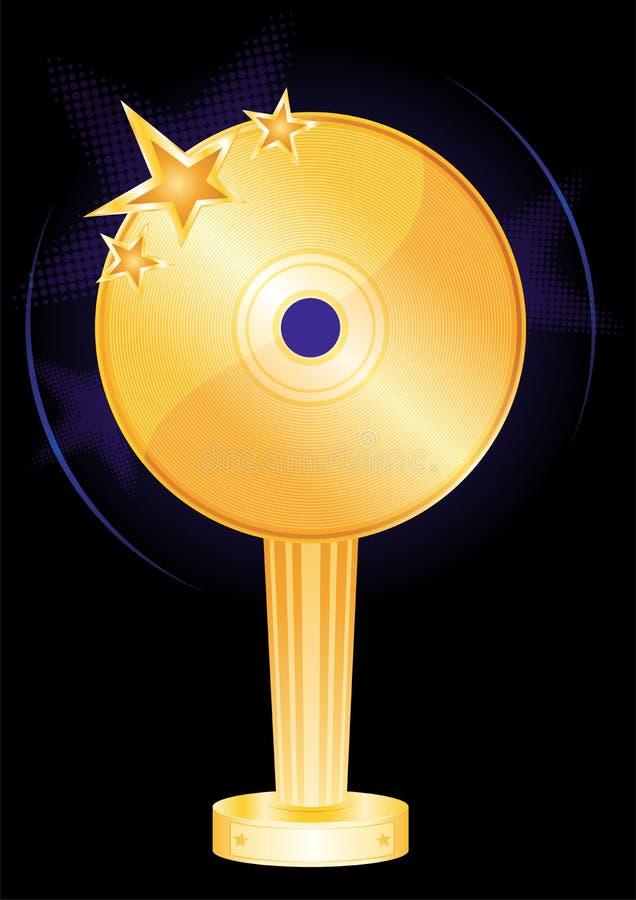Music award royalty free illustration