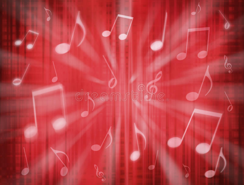 Download Red Music Notes Background stock photo. Image of music - 10220556
