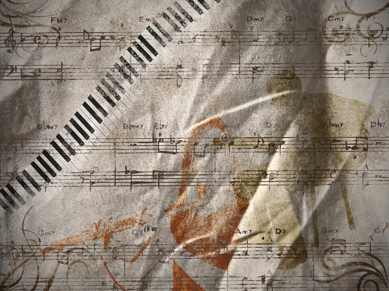 Music background. An illustration with music elements as a background vector illustration