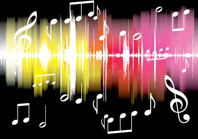 Music background vector illustration