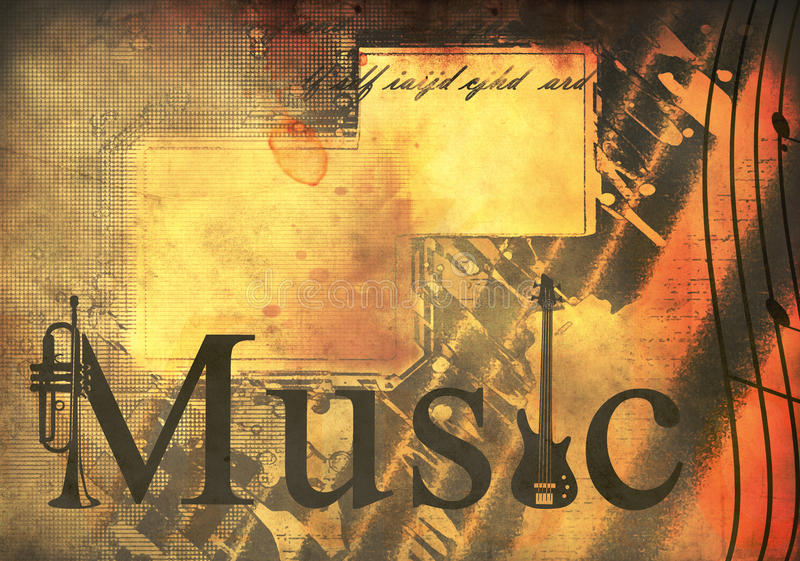 Download Music background stock illustration. Image of artistic - 17948664