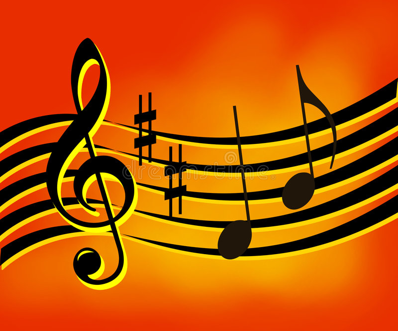 Music background. Music notes background. Illustration with music's signs stock illustration