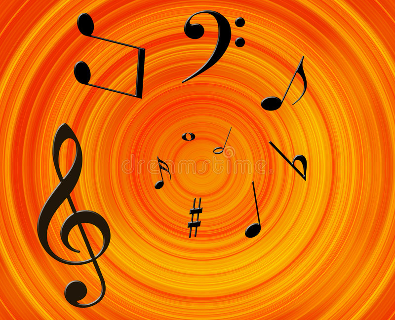Music background. Music notes background. Illustration with music's signs royalty free illustration