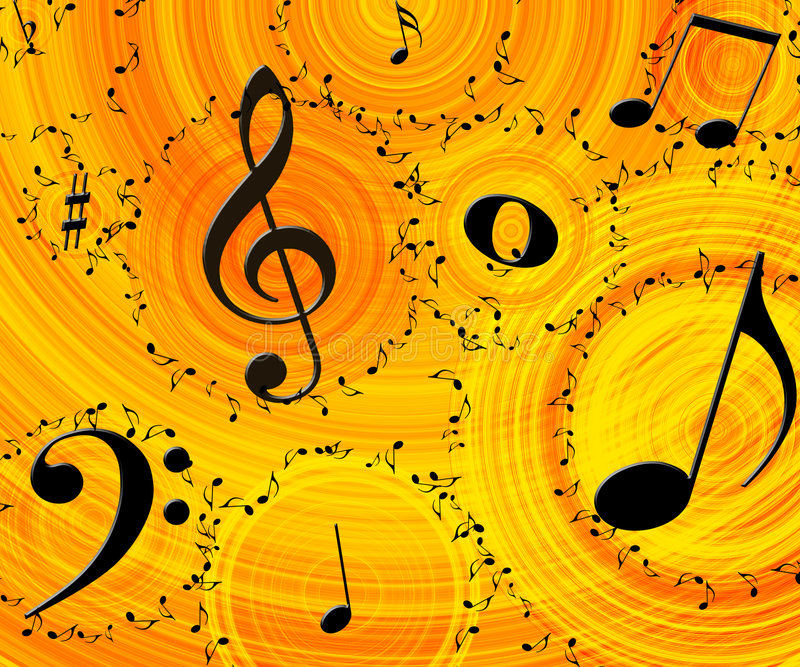 Download Music background stock illustration. Image of sheet, paper - 2096397