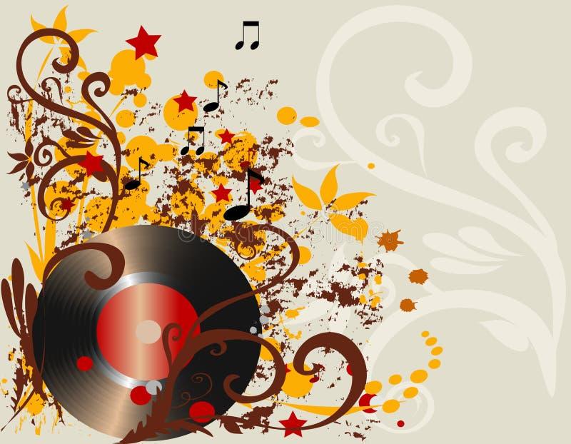 Music background stock illustration