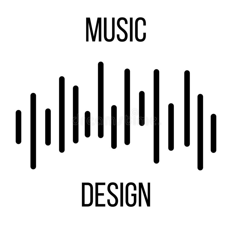 Music background. Audio equalizer icon. Sound wave. Abstract vector element for music design with equalizer. Vector illustration royalty free illustration