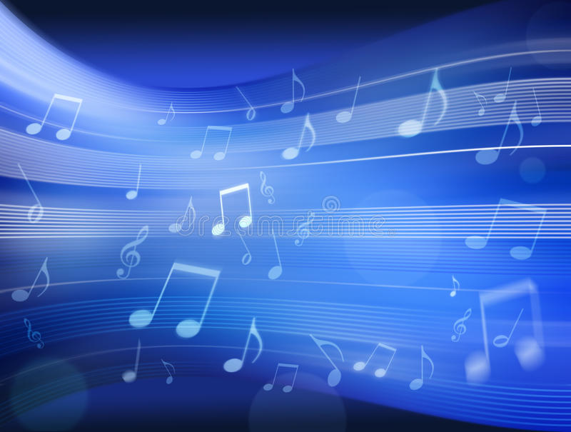 Music Notes Background Blue royalty free stock photo