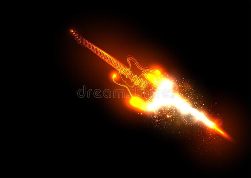 Download Music Background With Guitar Stock Vector - Image: 31425219