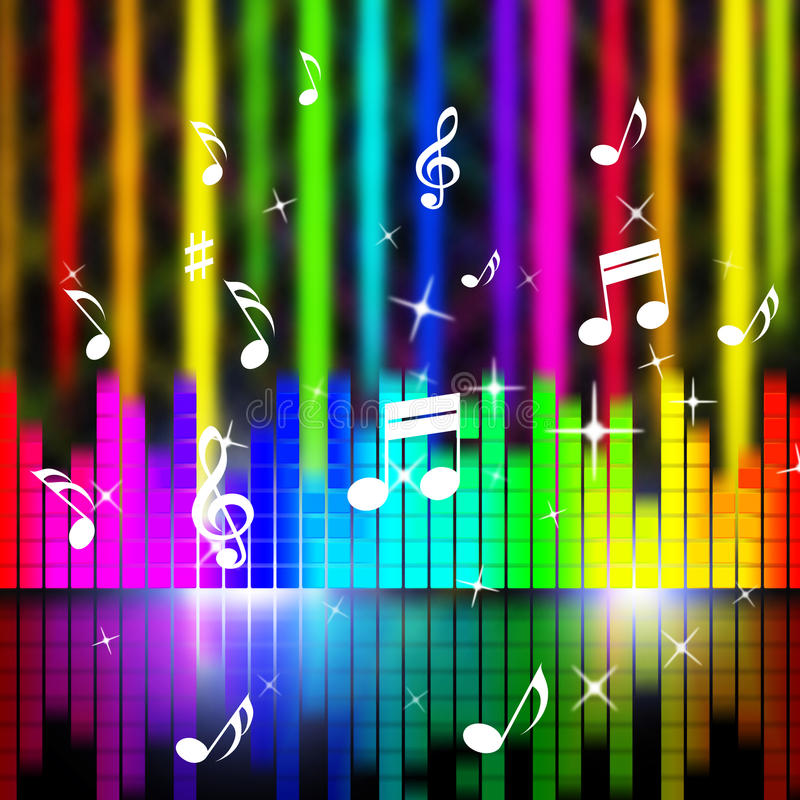 Music Background Means Playing Songs And Sounds. Music Background Meaning Playing Songs And Sounds vector illustration