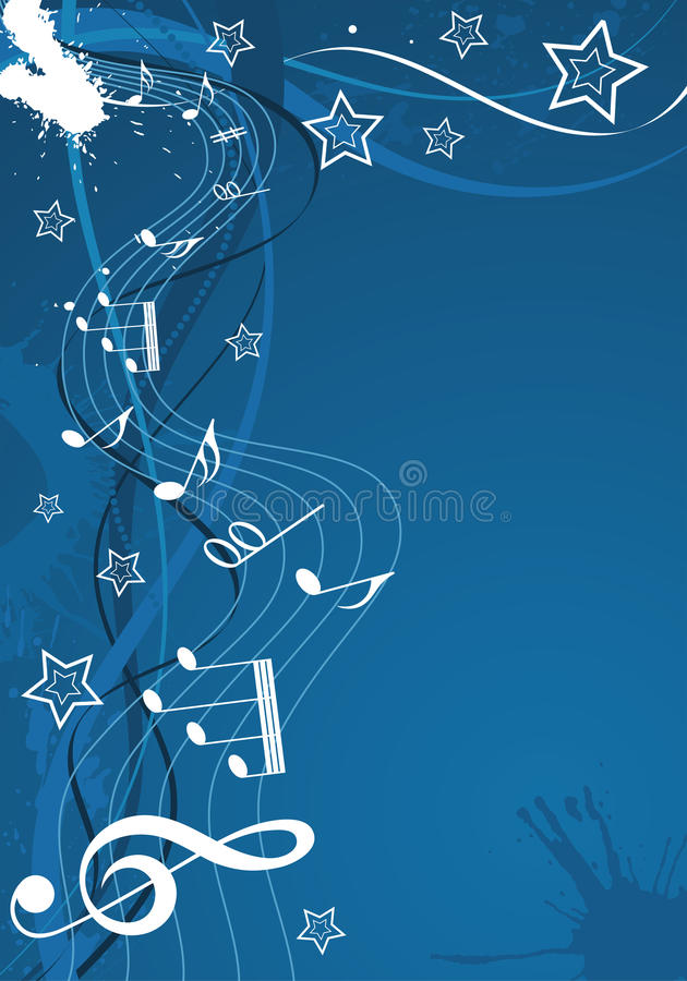 Download Music background with note stock vector. Image of drawing - 15419078