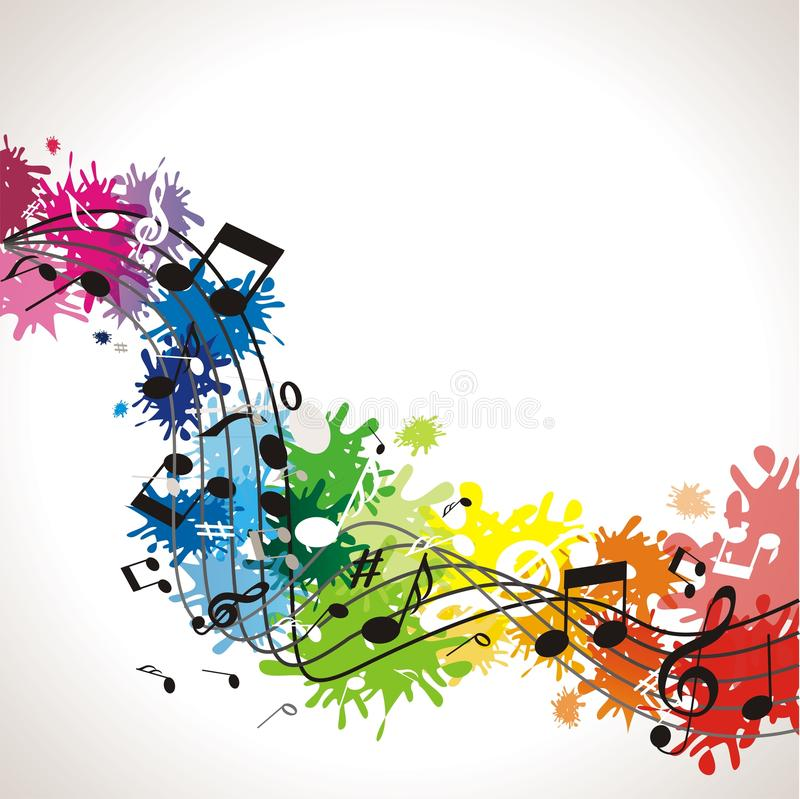 Music background with notes royalty free illustration