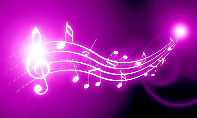Pink Music Wallpaper: Music Background Stock Illustration. Illustration Of