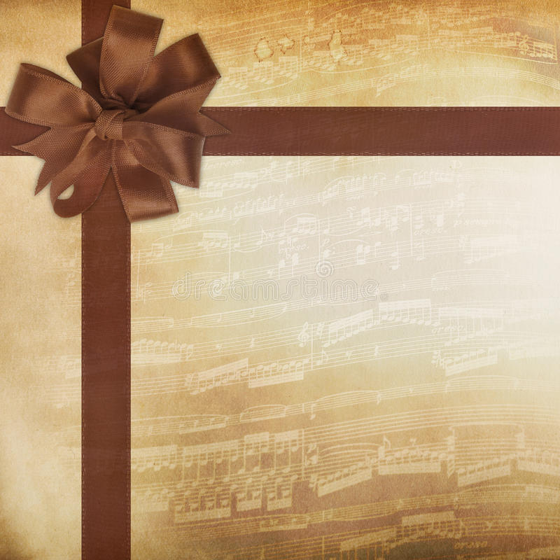 Download Music Background With Ribbon Tied Stock Illustration - Image: 29332820