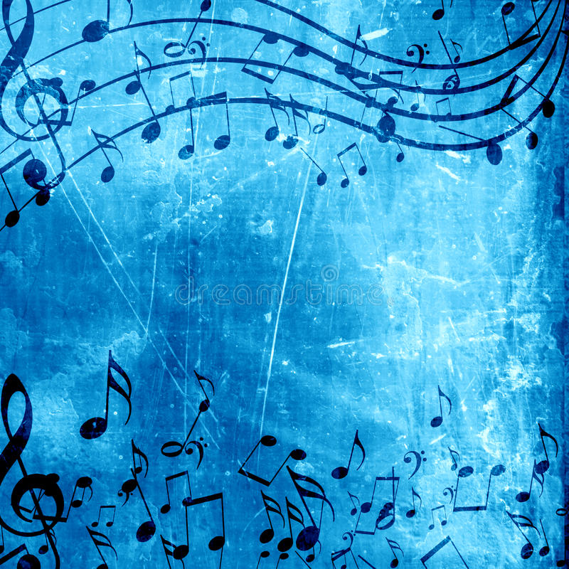 blue music background