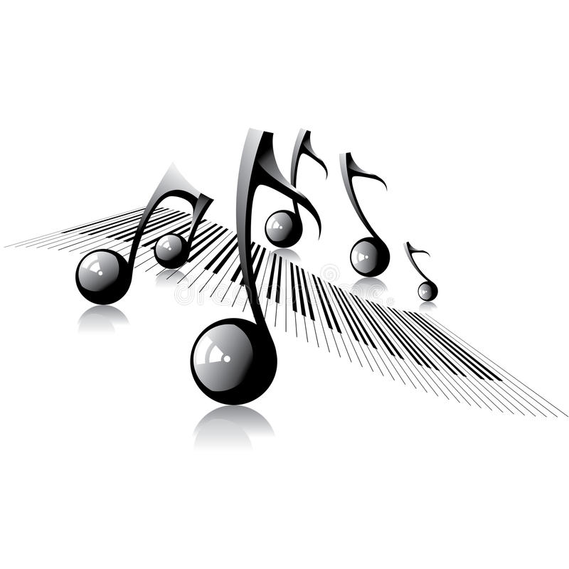 Music background, vector illustartion. Sheet music stock illustration
