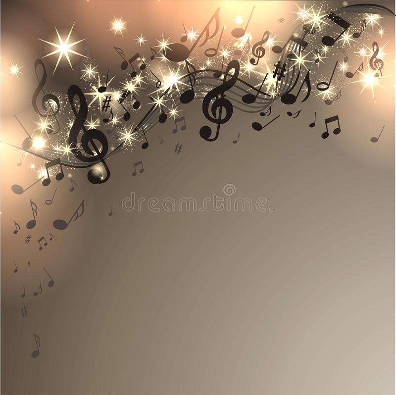 Free Music Background With Notes Royalty Free Stock Photos - 40723758