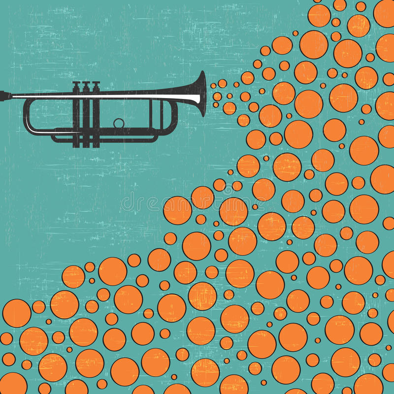 Free Music Background With Trumpet And Balls Stock Photos - 40107853