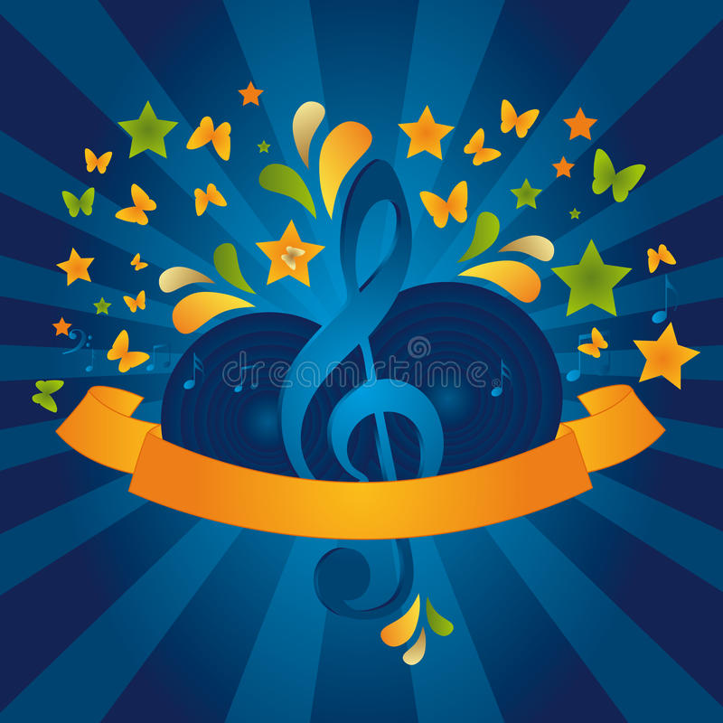 Download Music Banner stock vector. Illustration of butterfly - 13190303